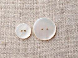 画像1: シェルボタン シンプル丸