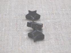 画像2: 水牛角パーツ 星チャーム(横穴貫通)