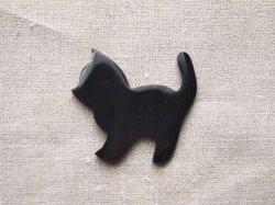画像1: 水牛角パーツ 仔猫(L) ブローチ用