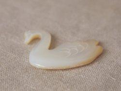 画像3: シェルパーツ 白鳥 スワン ブローチ用