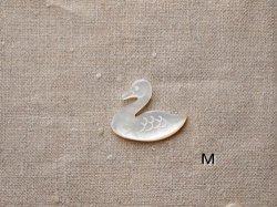 画像2: シェルパーツ 白鳥 スワン ブローチ用