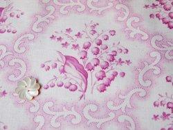 画像2: ジャーマンファブリック ピンク すずらん