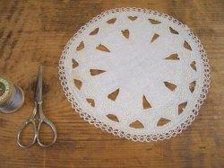 画像1: アンティークレース カットワーク刺繍