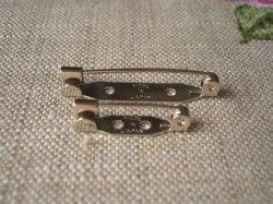 画像1: 引掛け式ブローチピン 10個組