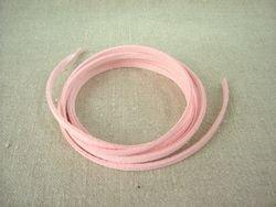 画像1: スエードレザーコード ピンク