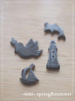 画像2: 水牛角パーツ happy bird