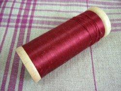 画像1: シルク糸巻き 赤